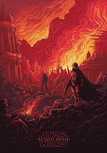 1000 Piezas Rompecabezas de Madera   Carteles de películas de Star Wars: El despertar de la fuerza   Rompecabezas de Adultos y niños, lo Mejor para la colección de Juegos Familiares