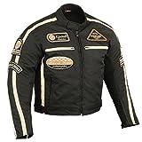 BOS Motorrad Jacke Motorrad textiljacke Motorrad Jacke 5XL, Schwarz
