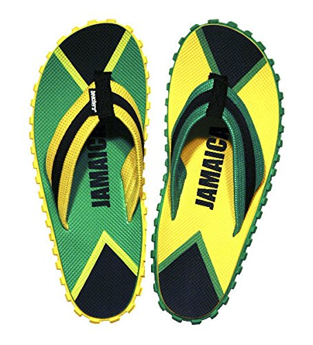 Beachers Original Zehentrenner Kult Schlappen Sandalen DIE Trendschuhe EUR 40 Jamaica