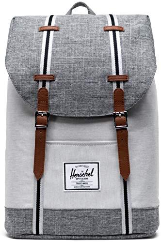 Herschel Retreat Backpack Raven Crosshatch/Vapor Crosshatch/Tan