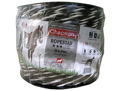 Corde Marron 6 mm clôture Chevaux Ropestar - 200 M