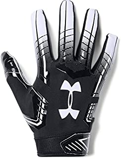Under Armour mens F6 Football Gloves Black (001)/White Medium