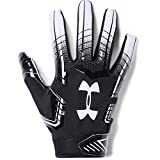 Under Armour mens F6 Football Gloves Black (001)/White Small/Medium