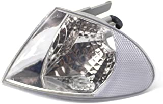 Clignotant de Lumi/ère de Coin Clair Gauche pour B MW S/érie 3 E46 Quatre Portes 1998-2001 KKmoon Lentille de La Lampe de lindicateur de Voiture