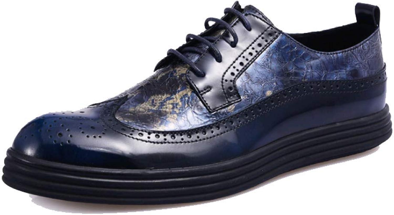 GTYW, Chaussures pour Hommes Brock, Chaussures De Sport Sculptées dans Le Cuir, Chaussures Basses d'Angleterre, 38-44