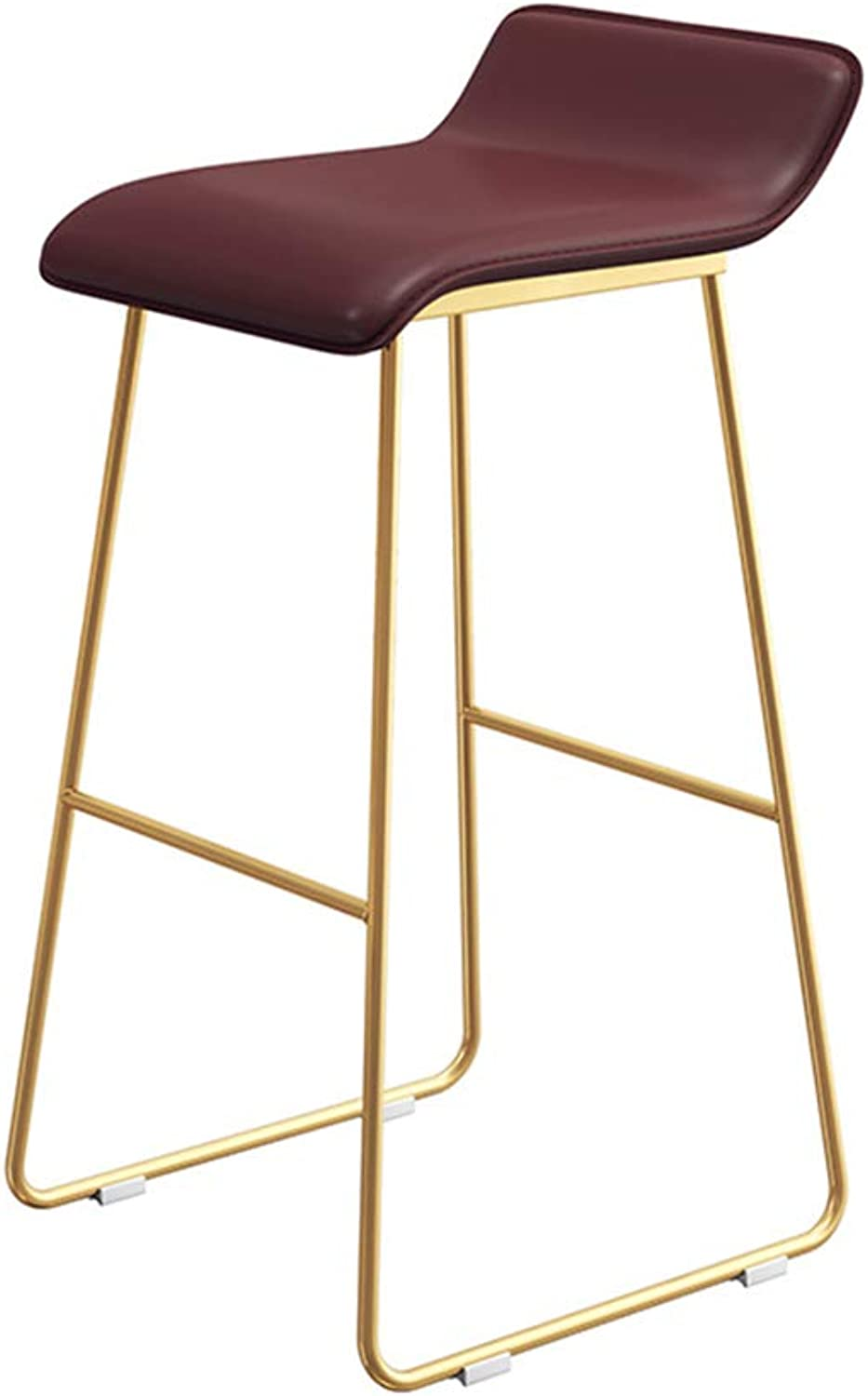 Metal High Stools Upholstered Barstools PU Leather Bar Stools Breakfast Dining Chairs Counter Bar Chairs Modern Nordic for Pub Kitchen Cafe