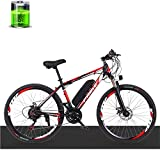 Bicicletas eléctricas para adultos Eléctrica de bicicletas de montaña, de 26 pulgadas de 27 velocidad de bici, 250W36V Motor 10AH batería de litio, la velocidad máxima 35 km / H, Resistencia 50 kilome