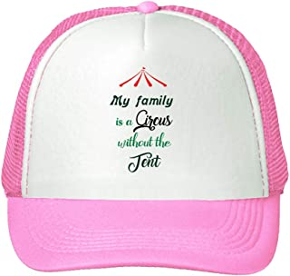 Trucker Hat My Family is a Circus Without The Tent Polyester Baseball Mesh Cap Snaps Pink One Size