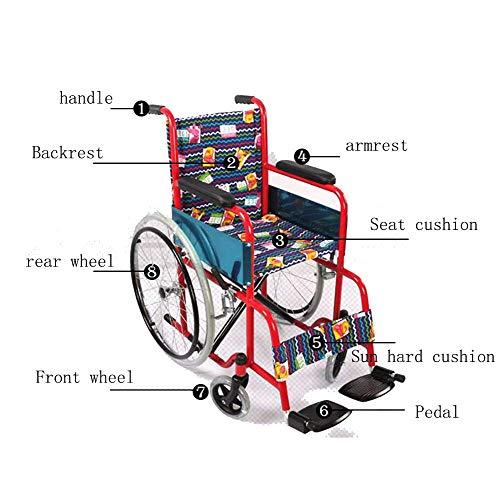 Y-L Ouderen Rolstoel voor kinderen met een handicap, Export Cartoon Folding Light Disability Injured Ouder Handmatig Reizen Rolstoel