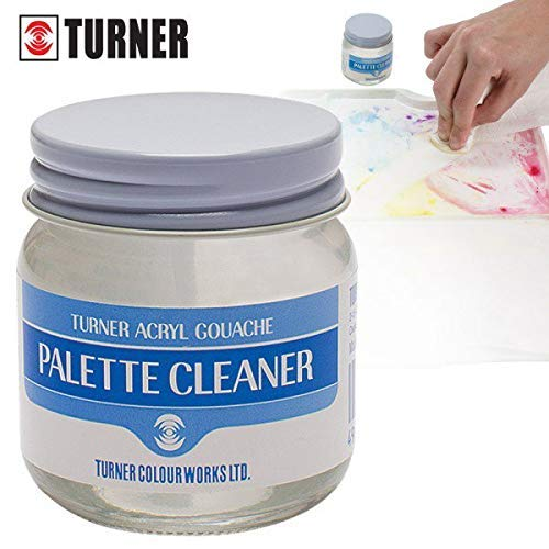 Turner Colour Works Palette Cleaner Removes Paint Stains and Paint Residue from Palettes - Ideal for Ceramic, Plastic, Metal, Watercolor Palettes, Acryl Gouache and Other Paints - 40ml Jar