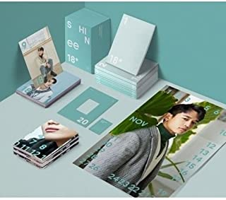 Shinee 2018 Season's Greetings-Monthly Planner+Monthly Poster(On)+PhotoCard K-POP SEALED