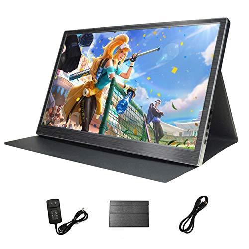 Monitor portátil USB de 13.3 Pulgadas 2K, 178 ° de Gran Angular 2560 * 1440 Pixel HDR FHD Pantalla Cubierta de Protector de Pantalla incluida y Fuente de alimentación y Cable HDMI