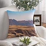 Decorativo cojín de Cubierta Suave Sky Valley Hill Turismo de Montaña Paisaje Amanecer de Vista Nacional, el turismo de Naturaleza Días Naturales Verano 20'x20'