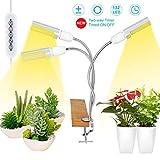 LED Grow Lights White Sunlike, 68W 132 LED 3-Head Plant Grow Light,