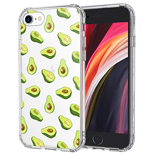 MOSNOVO Avocado Pattern Designed for iPhone SE 2020 Case/Designed for iPhone 8 Case/Designed for iPhone 7 Case - Clear