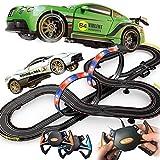 LINANNAN Race Car Track, Tracer Racers R/C Control Remoto de Alta Velocidad Super Bucle Speedway Glow Track Set para el Cambio en Las Carreras de Go, 7.1M