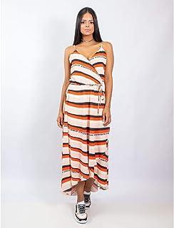 Vestido Longo Estampa Collor Stripe