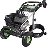 TEANDE 3200PSI Gas Pressure Washer 2.6GPM Power Washer 209CC Gas Powered Pressure with 5 Adjustable Nozzles, 20ft Pressure Hose, Dual soap Tank, Best for Cars Driveways Garden Patios