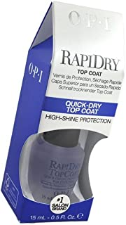 RapiDry Top Coat QUICK-DRY TOP COAT High-Shine Protection Dry wet nail polish fast for a tough, long-lasting, high gloss shine   size 15 ml