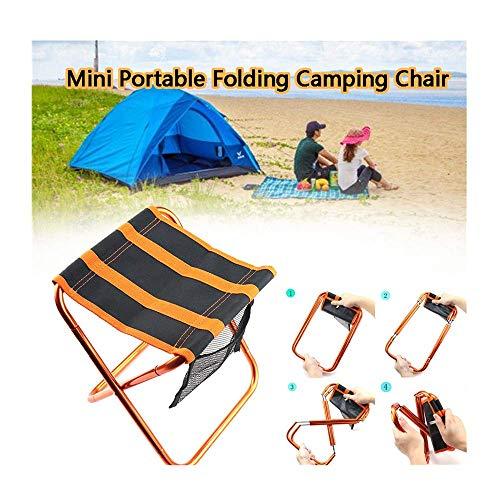 Winkey Klappstuhl, Mini tragbare Luftfahrt Aluminium Klappstuhl Outdoor Camping Stuhl Grill Reise Strand Zug Klappstuhl
