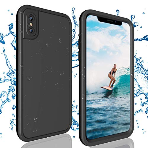 Fit-sport iPhone X Waterproof Case【IP68 Certified】 Shockproof Anti-Drop,360°Full Body Underwater Protecting with Clear Built-in Screen Protector, Clear Sound Cover for iPhone X