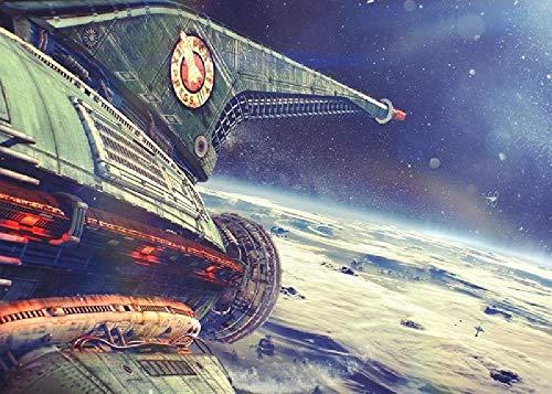 Planeta Express Futurama Nave Espacial Vuelo Imagen De Arte del Planeta 1000 Piezas De Rompecabezas Grueso Engrosado Regalos De Cumpleaños para Niños