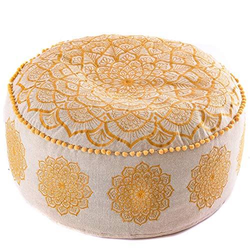 Mandala Life ART Bohemian Floor Cushion Cover -60x20 cm - Luxury, Artisan Room Décor Pouf...