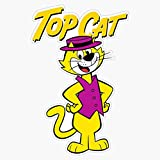 Leyland Designs Top Cat 2 Sticker Outdoor Rated Vinyl Sticker Decal for Windows, Bumpers, Laptops or Crafts 5'