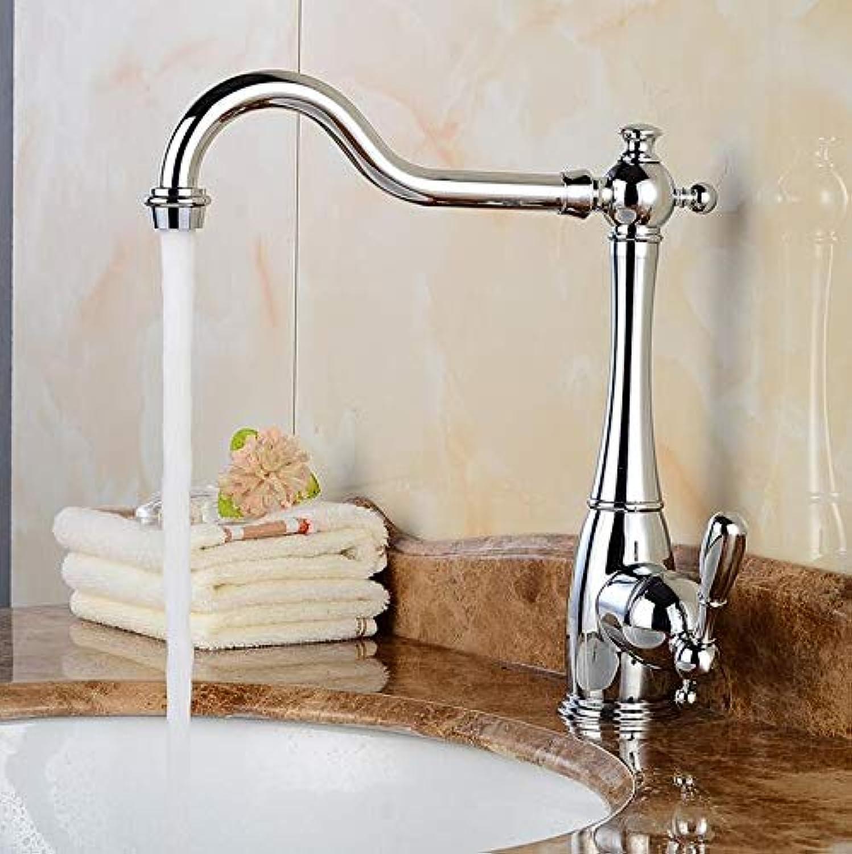 Makej Silber Drehbare Küchenarmaturen Waschtischarmaturen Mischbatterie Galvanik Bubbler Badezimmer Zubehr