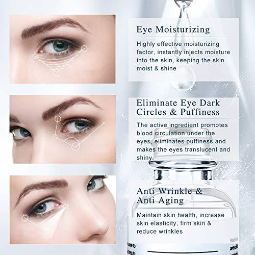 51XbdeQWiRL - Under Eye Serum - Eye Serum for Dark Circle, Eye Puffiness, Eye Bag Treatment, Anti Aging/Wrinkle Eye Moisturizer with Hyaluronic Acid, Glycerin & Caffeine Eyes Serum for Men or Women