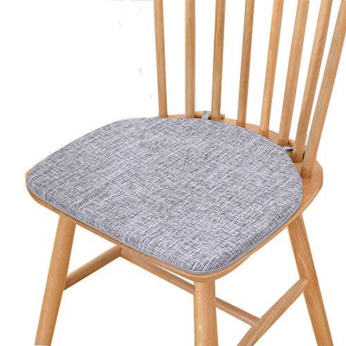 Memory Foam Stuhlkissen für Esszimmerstühle-Skid Backing Kitchen Dining Chair Kissen Sitzkissen Dickes, bequemes Sitzkissen, speziell für Windsor-Stühle entwickelt