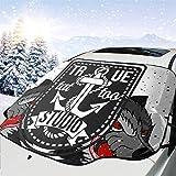 Selbstgemachte Tattoo-Design Old School Style Auto Schnee Abdeckung Frost Sonne Windschutzscheibe...