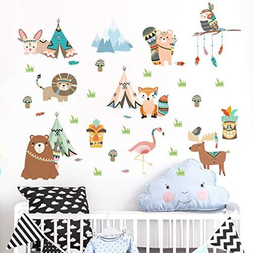 Childrens gift Sticker Mural décor coloré pour Animaux, Animaux Mignons Amovibles Enfants Stickers muraux pour Chambre d'enfant Chambre d'enfant
