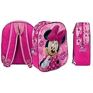 Star  Disney Minnie Art. Codice 54690, Zaini Stampati in 3D, Dimensioni: 26,5 x 10 x 31 cm.