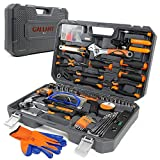 Tool Set with Tool Case – Tools For Men to Get Every Job Done – Home Tool Kit For DIY and Quick Repairs – Tool Organizer Keeps Everything In Place