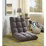 Loungie Microplush Recliner Chair, Grey