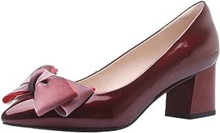 Zanpa Women Elegant Bow Pumps Mid Heels