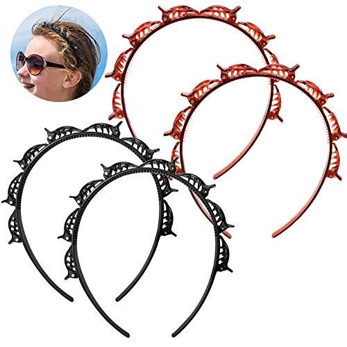YifKoKo 4PCS Hair Styling Aid Cerchietto con clip Forcine per capelli Forniture per parrucchieri Accessori per capelli Cerchietto per capelli con clip