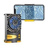 スマホ用 冷却ファン ペルチェ素子 スマホクーラー 原神 FGO 荒野行動 実況 スマホ冷却器 3秒急速冷却 静音小型 伸縮式クリップ 散熱効果抜群 三階段調整 自動開閉 iPhone/Xperia/Samsung/OS/Android等5-7.3インチ多機種対応