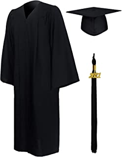 PA Original Graduation Gown and Cap for Adults 2021 Year Charm Unisex Matte University Bachelor High School 12 Colors, Und...