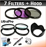 UltraPro 40.5mm Premium Filter Kit (UV, CPL, FLD, 1 +2 +4 +10) + Lens Hood Bundle with Filter Carry Case for The Sony A6000 Digital Camera with 16-50mm Lens. Bundle Includes Accessory Set