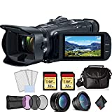 Canon Vixia HF G50 UHD 4K Camcorder (Black) Bundle with 2X 32 GB Memory Cards + LCD Screen...