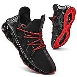 Mens Running Sneakers Slip on Walking Shoes Tennis Comfort Work Soft Sole Trainers Black