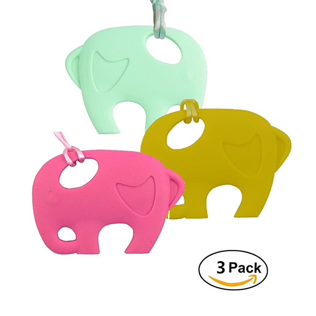 Baby Teething Toy, INCHANT Bendable & Freezer Friendly Elephant Teethers, Soft Silicone, BPA-Free, Natural Organic Infant Toys,FDA Approved Chewable Teether Toys