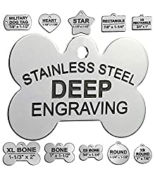 Stainless Steel Dog Identification Tags