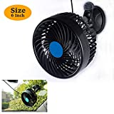 6 Inch Car Fan 12V Adjustable Low Noise Car Cooling Fan Suction Cup