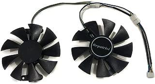 玄人志向 kuroutoshikou GALAKURO NVIDIA GEFORCE GTX 1060/950 GK-GTX1060-E6GB GF-GTX950-E2GB GF-GTX1060-6G Radeon RX 580 RD-RX580-E8GB PowerColor Red Dragon RX480 RX580 RX470 GPU グラフィックカードファン Can Replace PLA09215B12H