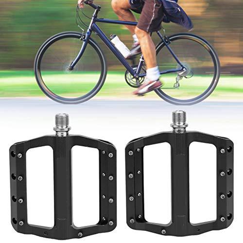 Surebuy Pedal Ligero para Bicicleta Debajo del Escritorio Pedales Materiales concienzudos, para Bicicleta de montaña(Black)