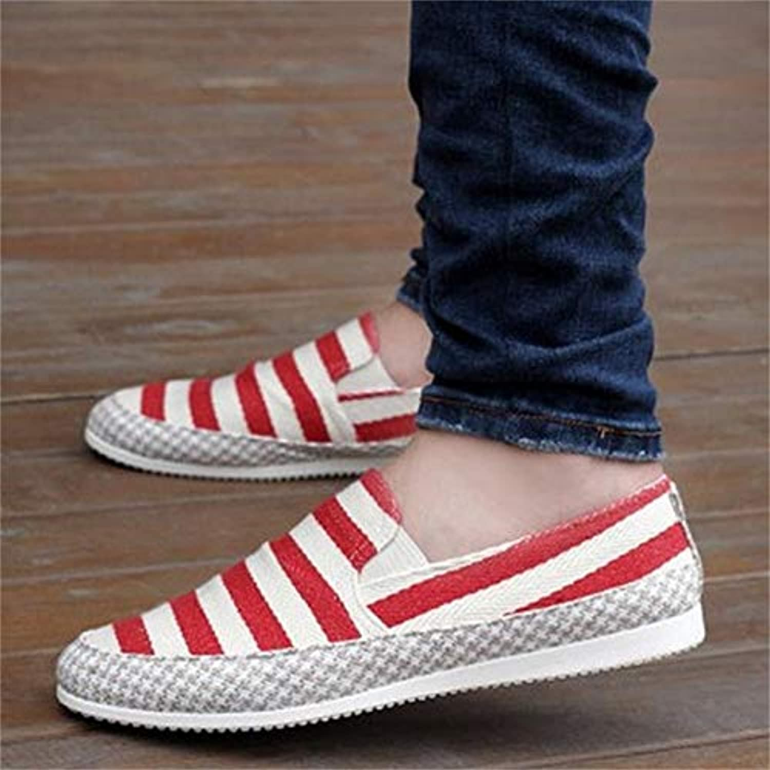 LOVDRAM Men'S Leather shoes Spring And Summer New Peas shoes Casual shoes One Foot Lazy Driving Korean shoes Men'S Trend Breathable Men'S shoes
