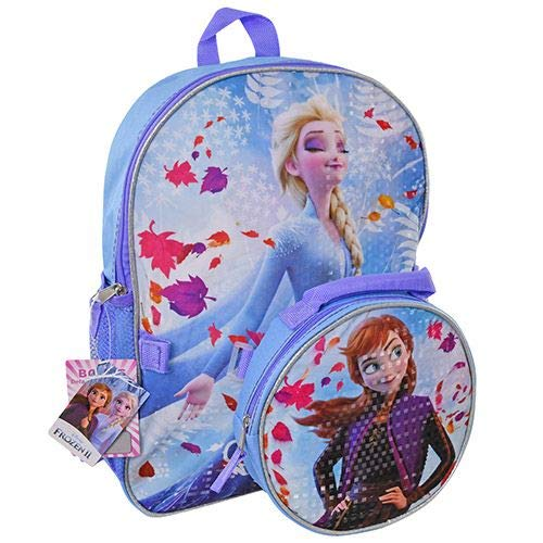 Frozen 2-16' Backpack Elsa and Anna with Shaped Lunch Bag Set